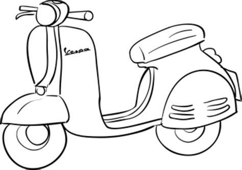 Malvorlage Motorroller