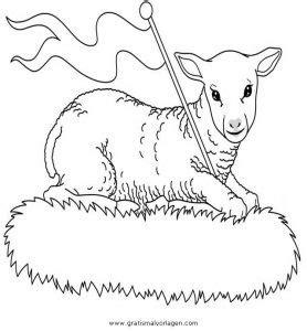 Malvorlage Osterlamm