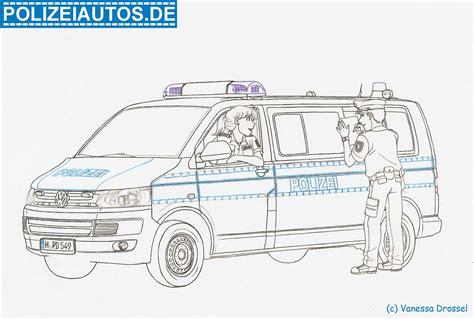 Malvorlage Polizeiauto