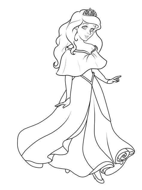 Malvorlage Prinzessin Gratis