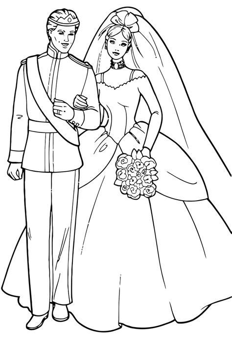 Malvorlage Prinzessin Hochzeit