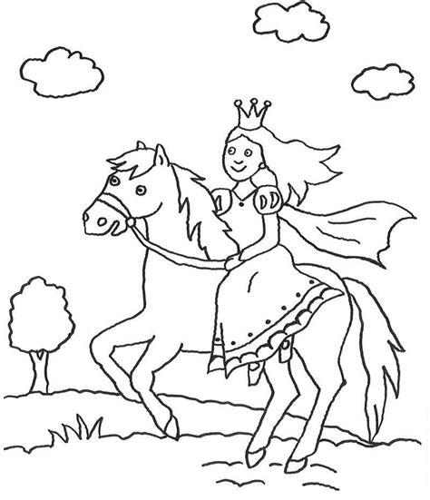 Malvorlage Prinzessin Und Pferd