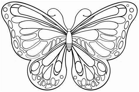 Malvorlage Schmetterling A4
