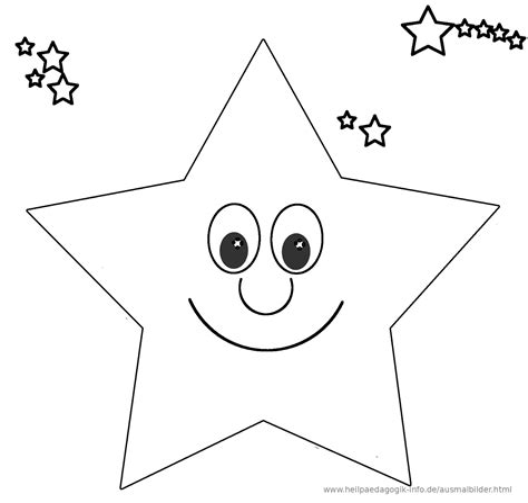 Malvorlage Stern Mit Gesicht