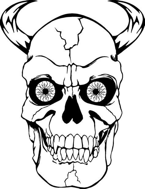 Malvorlage Totenkopf