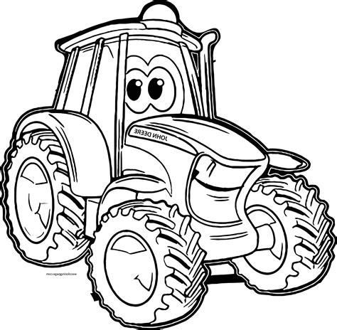 Malvorlage Traktor Kostenlos