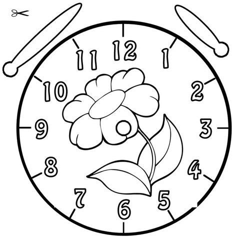 Malvorlage Uhr Lernen