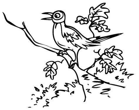 Malvorlage Vögel Auf Ast