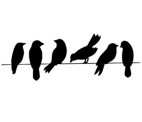 Malvorlage Vogel Silhouette