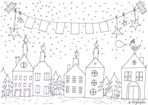 Malvorlage Weihnachten Fenster