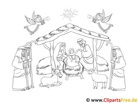 Malvorlage Weihnachten Krippe