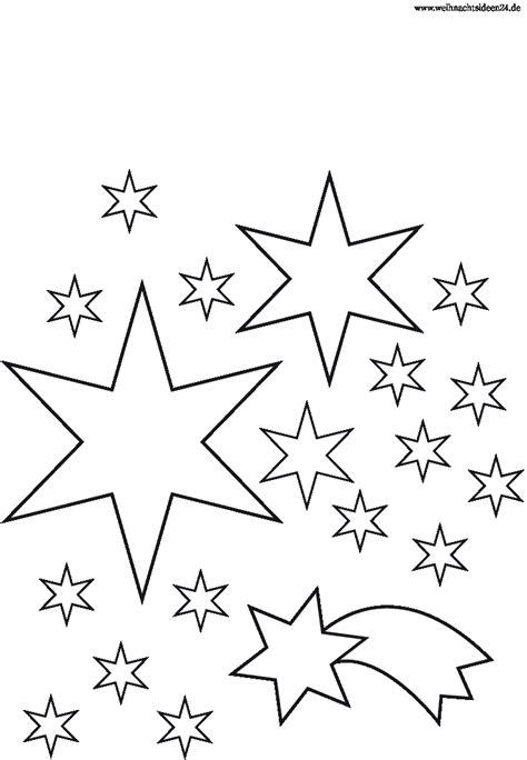 Malvorlage Weihnachten Sterne