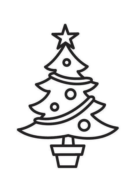 Malvorlage Weihnachtsbaum Einfach