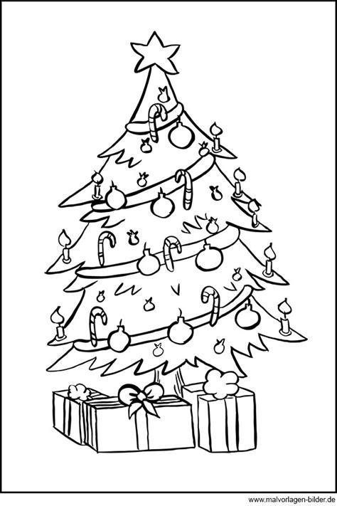 Malvorlage Weihnachtsbaum Mit Geschenken