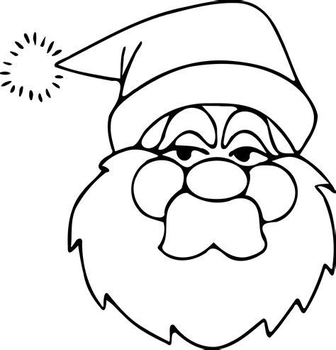Malvorlage Weihnachtsmann Gesicht