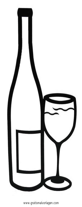 Malvorlage Weinflasche