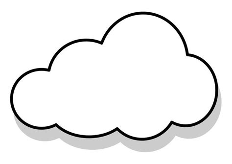 Malvorlage Wolke