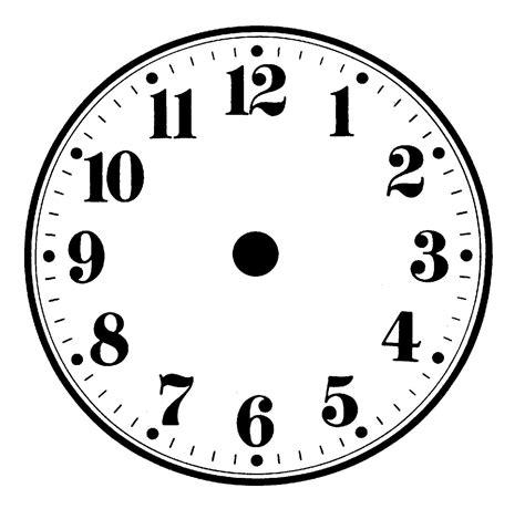 Malvorlage Zifferblatt Uhr