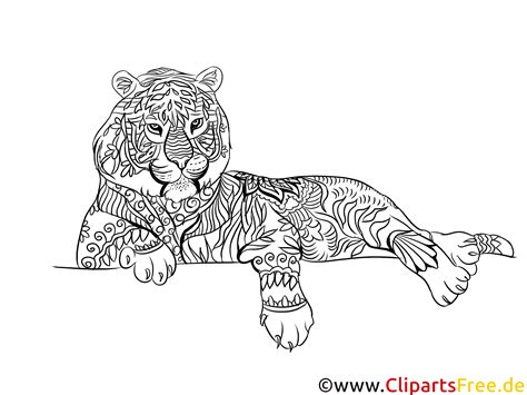 Malvorlage Zum Ausdrucken Tiger
