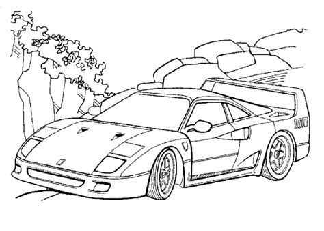 Malvorlagen Autos Ferrari