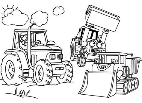 Malvorlagen Bagger Traktor