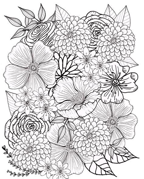 Malvorlagen Blumen Erwachsene