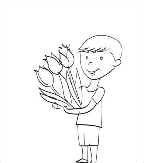 Malvorlagen Blumen Jungen