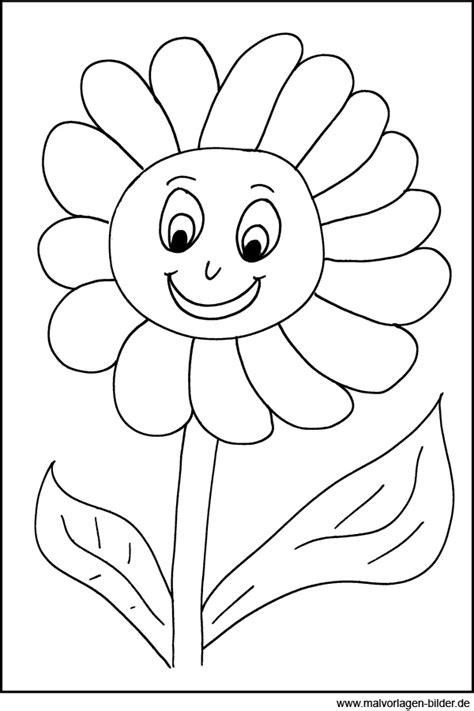 Malvorlagen Blumen Mit Gesicht