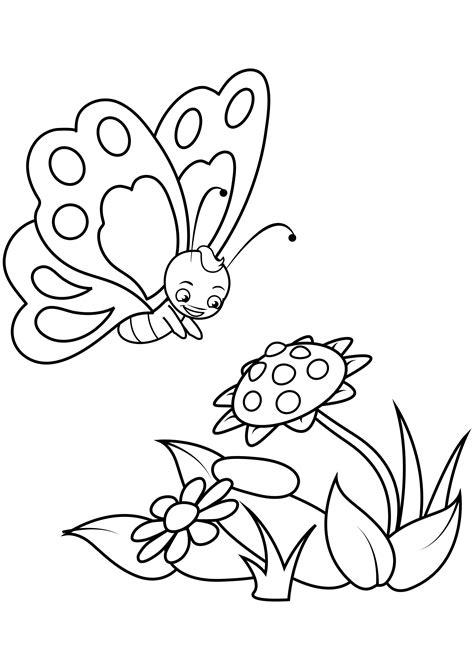 Malvorlagen Blumen Und Schmetterling