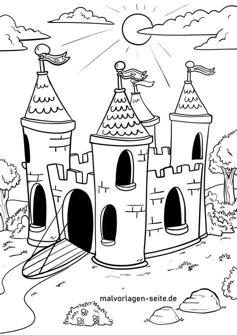 Malvorlagen Burgen Und Ritter
