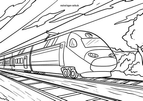 Malvorlagen Eisenbahn Ice