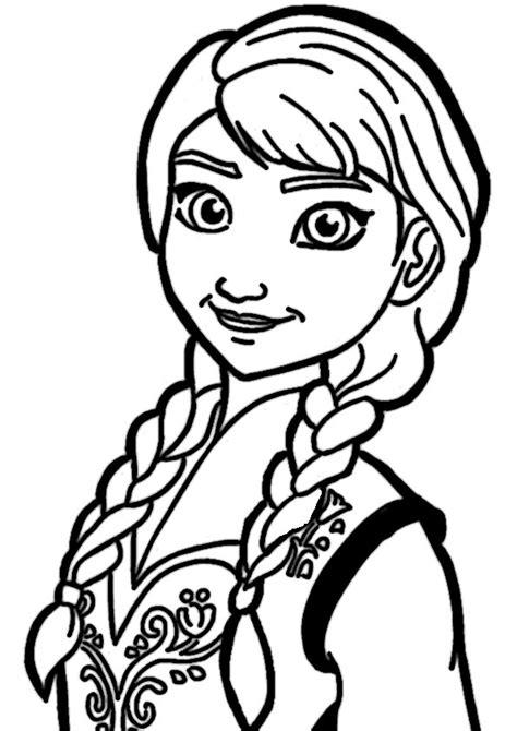 Malvorlagen Eiskönigin Anna