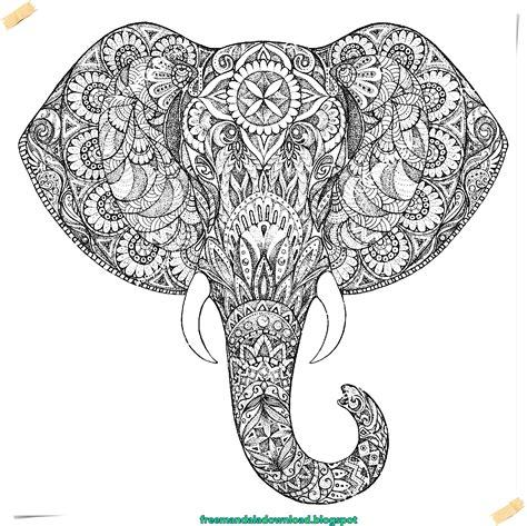 Malvorlagen Elefanten Mandala