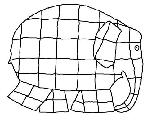 Malvorlagen Elmar Elefant