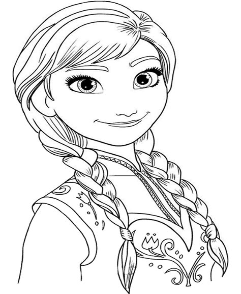 Malvorlagen Elsa Frozen