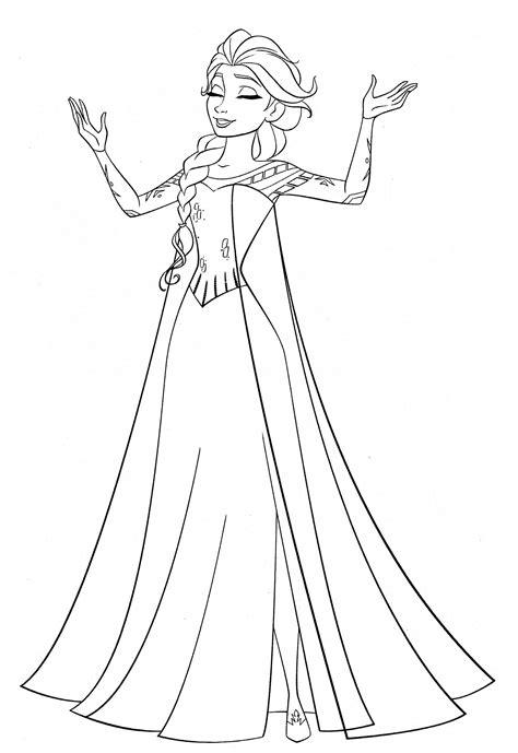 Malvorlagen Elsa Kostenlos Ausdrucken