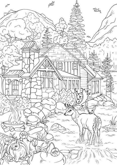 Malvorlagen Erwachsene Haus