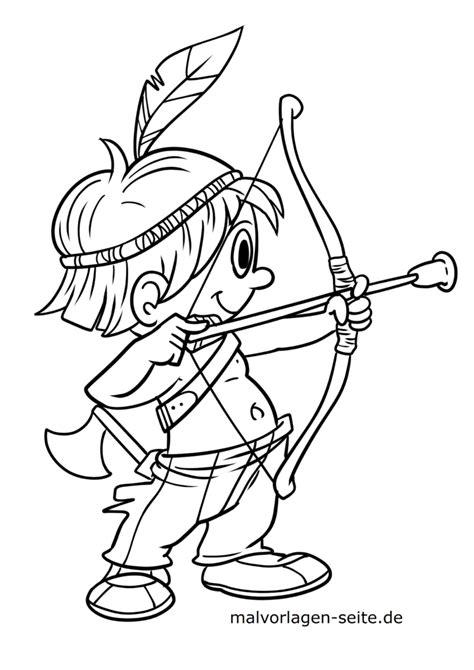 Malvorlagen Für Kinder Indianer