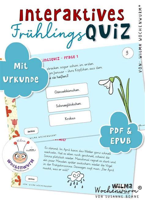 Malvorlagen Frühling Quiz
