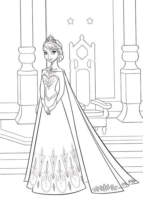 Malvorlagen Frozen Queen