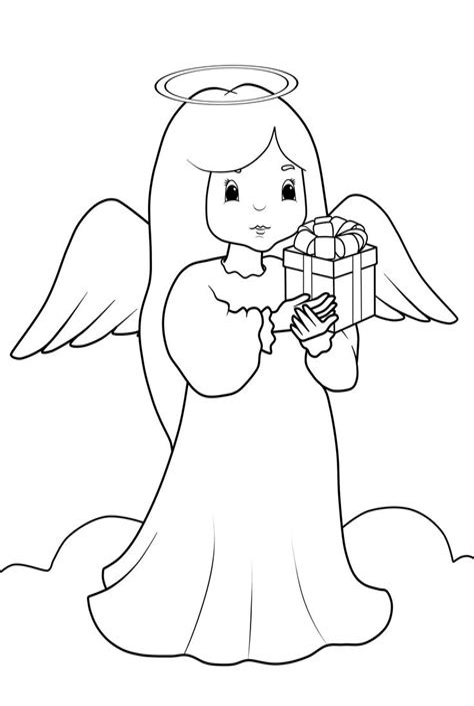 Malvorlagen Gratis Weihnachten Engel