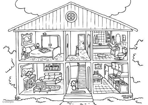 Malvorlagen Haus Innen