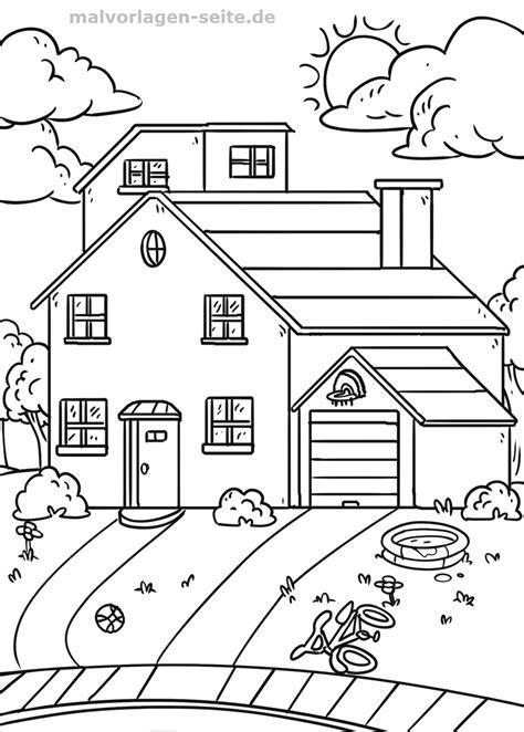 Malvorlagen Haus Mit Garten