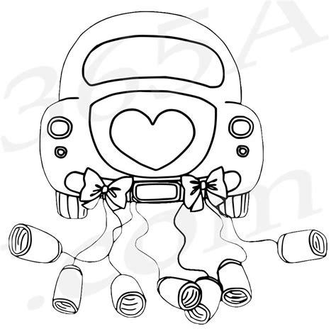 Malvorlagen Hochzeit Auto