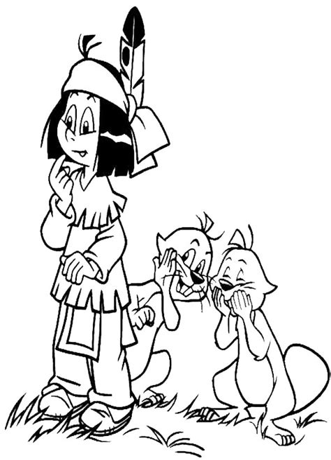 Malvorlagen Indianer Yakari