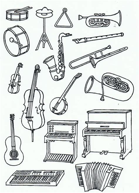 Malvorlagen Instrumente Gratis