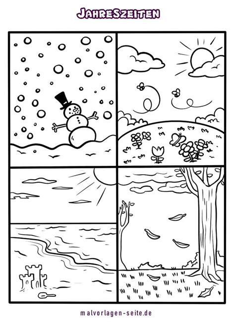 Malvorlagen Jahreszeiten Für Kinder