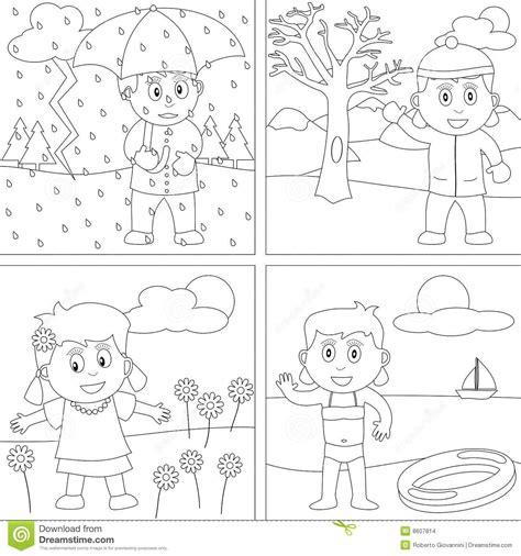 Malvorlagen Jahreszeiten Junior