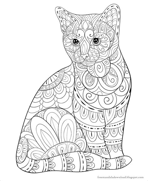 Malvorlagen Katzen Mandala