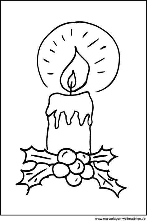 Malvorlagen Kerzen Weihnachten
